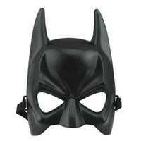 mascaras de murciélago al por mayor-Dark Knight Rises Halloween Batman Mask Disfraz Facial Half Face Mask Adulto Mascarada Vestir Carnaval Baile Bat Hombre