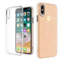 Wholesale slim transparent iphone for sale – best Transparent Clear Shiny Glitter Soft TPU Phone Case Slim Cover For iPhone XS MAX XR X Plus plus Samsung S10 Plus S10 S10E