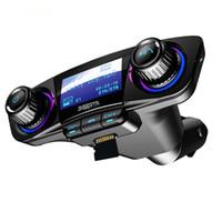 силовые передатчики оптовых-Включение и выключение Bluetooth 4.0 FM-передатчик модулятор громкой связи автомобильный комплект TF USB Music AUX Audio MP3-плеер