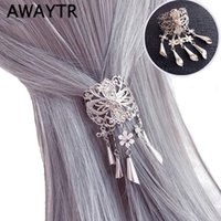 Wholesale red cherry hair clips for sale - Group buy AWAYTR New Chinese Style Hair Clips for Women Cherry Hairpin Girls Elegent Ladies Headwear Costume Hanfu Hair Accessories
