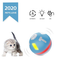 ingrosso cane di sfera leggera-360 gradi di rotazione della sfera rotolante Cat Toy Led Light Interactive Cat Toy Dog sfera USB rotolamento Led Light automatica