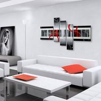 modern soyut siyah yağlıboya tablolar toptan satış-Duvar dekor yağlıboya modern yağlıboya tuval soyut resim siyah beyaz pop sanat ucuz modern resim sergisi