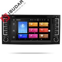 gps touareg al por mayor-Isudar Car Multimedia Player 2 din Radio GPS Android 9 Sistema estéreo para Volkswagen / Touareg Octa Core 4G RAM 32G ROM DVD DVR