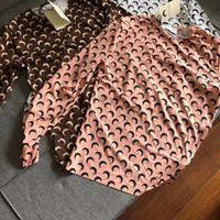 ingrosso camicia piena di marca superiore-Marchio moda Marine Serre 19SS Stampa donna Full Moon Stampa a maniche lunghe T-Shirt da donna T-shirt da donna Tee Tops Abbigliamento donna