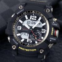 digitalbeleuchtung alarm großhandel-Neue mode luxus designer sport smart watch schlag wider wasserdicht weltzeit licht countdown alarm multifunktions gg1000 mit box