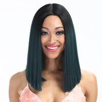 волосы бразильский парик продать оптовых-Благородное золото синтетический боб кружева фронтальный парик ombre шелковистые прямые бразильские волосы лучшие продажи женщин высокого качества парик фронта шнурка