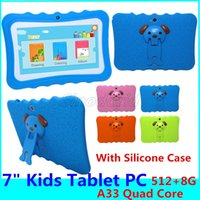 Wholesale Kids Brand Tablet PC inch Quad Core children tablet Android Allwinner A33 big speaker with protective cover Children tabelt PC