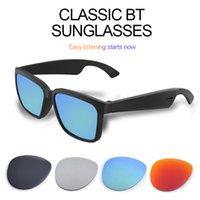 Designer Smart Glasses Bluetooth 5.0 Classic Women Mens Sunglasses Support Voice Control Wireless Fashion UVA UVB Protection