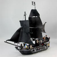 ingrosso modelli di navi pirata-16006 Iego Black Pearl Pirate Ship Puzzle Modello Assemblaggio di mattoni Building Blocks Kit Fai da te Istruzione Regali di Natale MX190730