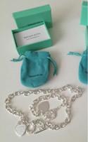 Wholesale asian silver bracelets resale online - Fashion Brand designer iffan925 Hot Sale New Women Luxury HEART Necklace Bracelet Earring Set with box