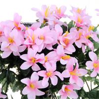 маленькие орхидеи оптовых-2 шт. / Лот Маленькая Лилия Цветок Настенная Орхидея Искусственный Цветок Vine Home Decor Белые Свадебные Поддельные Цветы для Украшения Гостиной H122