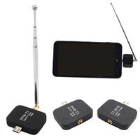 hd tuner android toptan satış-TV Alıcısı Mikro HD USB Tuner Dijital Tuner DVB-T2 DVB-T Alıcı + Anten Mini Android Akıllı telefon Tablet Için