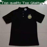 ingrosso polo uniforme-New Arrive 2 Stars Algeria Soccer Polo Shirt 2020 Algerie Black Casual Wear 2019 Algeria White POLO Uniformi allenamento Drop Shipping