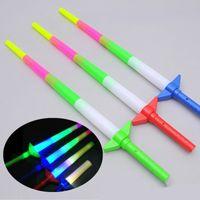 disco çubuğu toptan satış-Glow Stick LED Renkli çubuklar yanıp sönen led Kılıç işık tezahürat parti Disco glow değnek Futbol Müzik konser Tezahürat sahne ödül hediye WCW306