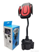 cep telefonları için araba beşiği toptan satış-Yeni Universal Araç Montaj Ayarlanabilir Bardak Tutucu Cep Telefonu Cep Için Cradle Standı