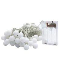 topları çelenk açtı toptan satış-10 M 80 LED Peri Garland LED Topu Dize Işıklar Noel Ağacı Düğün Ev Kapalı Dekorasyon Için Su Geçirmez Akülü