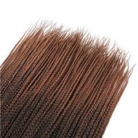 boxen für haarverlängerungen großhandel-Crochet Braids Micro Box Braid Haarverlängerungen Ombre Kanekalon Kunsthaar Flechten Crotchet Hair Bulk für amerikanische Frauen