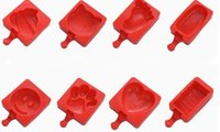 fabricante de vara de gelado venda por atacado-NOVO Homemade Silicone bonito Ice Pop Moldes picolé moldes de gelo Bandejas Ice Cream Maker congelado Mold Titular com varas Ferramentas da cozinha