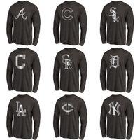 Wholesale white tiger shirt online – design Men Indians Rockies White Sox Cubs Braves Dodgers Tigers Twins Yankees Fan Apparel Platinum Collection Long Sleen Tri Blend T Shirt