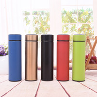 Wholesale bottle insulated sleeve resale online - 17oz ml Stainless steel insulated cup Slim tumbler for office business water bottle slim straight drinking cup for gift custom logo