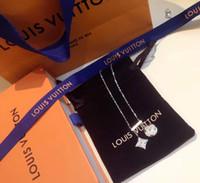 cadenas de diamantes 14k al por mayor-DIAMOND BLOSSOM NEGLIGE Collar, Diamante de platino Collar de la mujer Diseñador de lujo joyería Collar de mujer helado cadenas para hombre 14k oro cha
