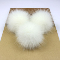 Wholesale artificial chain pendant resale online - 1pc Faux Fox Pompom Fur Balls cm DIY Handmade Artificial Fur Pom Pom for Key Chain Beanie Hats Handbag Pendant