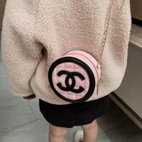 moda mini çantalar kızlar için toptan satış-Bebek Çocuk Çanta Moda Kore Mini Prenses Çantalar Güzel Tasarımcı Çocuklar Yuvarlak Çanta Kızlar Eğimli Omuz Çantaları Noel Hediyeleri