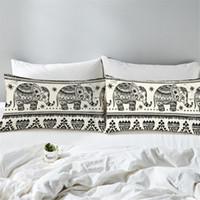 Wholesale elephant cases online – custom Pillowcase Bohemian Pillow Case Sofa Cushion A Variety Of Bohemian Elephant Home Textiles Bedding Pillow Cases Home Pillowcase EEA413