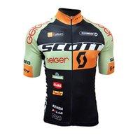 scott ciclismo tops venda por atacado-Novo 2019 Equipe SCOTT camisa de Ciclismo Homens verão quick dry Tour de france manga curta MTB Bicicleta camisa Ciclismo Roupas F60422