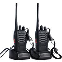 5w uhf walkie venda por atacado-Baofeng BF-888S Walkie Talkie UHF 5 W 400-470 MHz 16CH Handheld Rádio Bidirecional Comunicador Monitor de Varredura Presunto CB Rádios BF 888 s