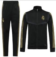 Wholesale real kits resale online - 18 tracksuit Marseilles Paris soccer Training suit Real Madrid tracksuits MBAPPE LUCAS maillot de foot jacket kit