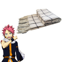 ingrosso guanti liberi in lattice nero-Japan Anime FAIRY TAIL Etherious Natsu Dragneel Battle Cosplay Accessories Prop Soft Halloween Unisex Long Scarf
