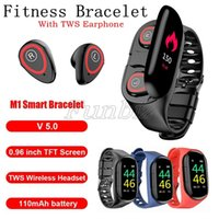 Wholesale wrist bluetooth headset online – Latest M1 Smart Bracelet With Bluetooth Headset Heart Rate Monitoring Smart Bracelet Long Life Sports Watch Men And Women Smart Watch