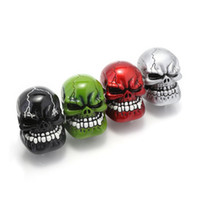 Wholesale skull knobs resale online - Universal Manual Gear Shift Knob Shifter Lever Wicked Carved Skull pomo marchas Black Green Red Silver D5