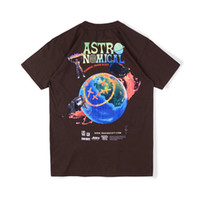 Wholesale jacks brown for sale - Group buy 20ss Ins Hot Travis Scott Cactus Jack Forthite Sicko Event Astronomical Earth Tee Skateboard Mens t shirt Women Street Casual Tshirt