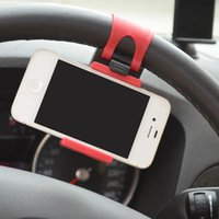 Wholesale car steering wheel mobile mount for sale - Group buy Car Holder Mini Air Vent Steering Wheel Clip Mount Cell Phone Mobile Holder Universal For iPhone Support Bracket Stand
