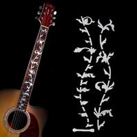guitarra elétrica inlay da árvore venda por atacado-Árvore de guitarra elétrica ou acústica da vida adesivos, baixo embutimento, Decalque Ultra-fino Micro-motion fretboard adesivo, para acessórios de guitarra.