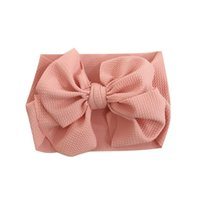 детские полоски для волос оптовых-Baby child hair band corn big bow band solid color cloth toddler infant cute headband for 0-3T