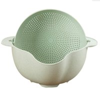 Wholesale basin wash bowl for sale - Group buy Washing Basket Double Drain Basin Sink Washing Rice Bowl Fruit Tray Drain Basket Wash Rice Kitchen Strainer Noodles Veget