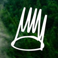 vinil çıkartma işaretleri toptan satış-Taç Decal sticker vinil Araba windows Dizüstü çıkartması Hip hop çıkartmalar Drake Rap Işareti Ön Kapı dekoratif X0017