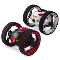 Wholesale toy walking robots for sale - Group buy 2 g Rc Bounce Car With Jumping Led Light Music Automatic Balancing Upright Walking Remote Control Robot Car Toys Gifts For Kids