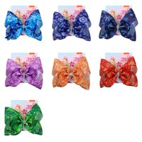 Wholesale baby girl yellow hair for sale - Group buy Snowflake Hair Bows Accessories Jojo Siwa Luxury Barrette Baby Girl Fashion Bowknot Hairpin inch New European And American Style jfb Ww