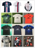 fußballfelder großhandel-19 20 psg Fußball Jerseys mit ligue 1 Patch 2019 2020 psg Mbappe CAVANI PSG Fußballhemden survêtement maillot de foot customiz