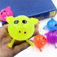 Wholesale splat balls venting resale online - Sell well new Decompression Pig Anti Stress Splat Ball Vent Toys Venting Ball Sticky Smash Water Ball Squeeze Toy Party