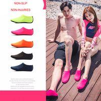 plaj çorapları toptan satış-DHL Plaj Su Sporları Scuba Dalış Çorap 5 Renkler Yüzme Dalış kaymaz Sahil Plaj Ayakkabı Nefes Sörf Çorap Kum oynamak