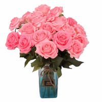 peônias de natal branco venda por atacado-6.5 cm rosa flor artificial de casamento mobiliário de casa diy grinalda folhas de artesanato simulação de flores falsas baratos