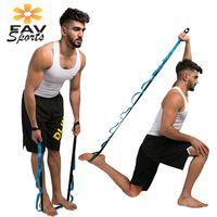 резисторные ремни оптовых-Yoga Stretch Strap Adjustable Fitness Pull Ropes Pilates Resistance Bands Exercises Training Belt Loops yoga sling