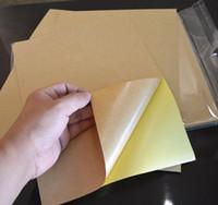 papel para etiquetas de inyección de tinta al por mayor-50 hojas A4 Papel Kraft Etiqueta autoadhesiva autoadhesiva Impresora de inyección de tinta láser Copiadora Superficie mate Hoja de papel