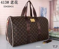 mens totes toptan satış-En kaliteli erkek lüks tasarımcı seyahat bagaj çantası erkek kılıf keepall deri çanta spor çantası Kesesi 2019 marka moda lüks tasarımcı çanta