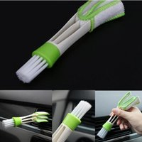 ingrosso spazzola metro-Auto Meter Detailing Cleaner Blinds Duster Brush Doppio Ended Cleaning Brush Ventilazione Blinds Cleaner Household Cleaning Tools